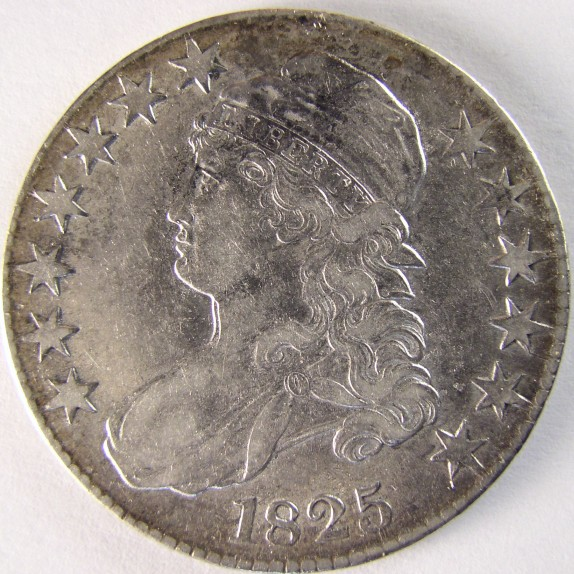 click for larger picture of 1825 Capped Bust Half Dollar