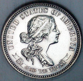 click for larger picture of 1870 Silver Dime Pattern Judd J-849