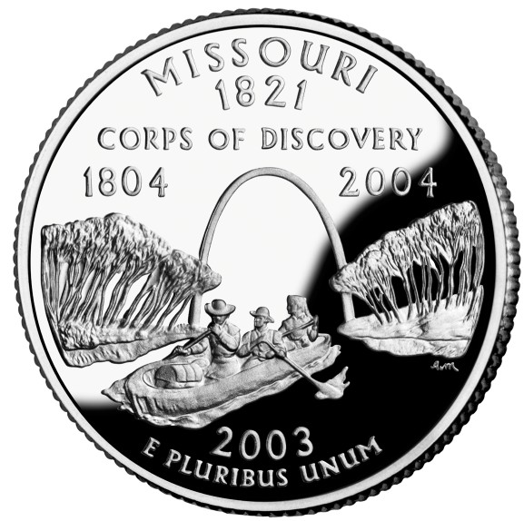 click for larger picture of 2003 S Missouri State Quarter Proof