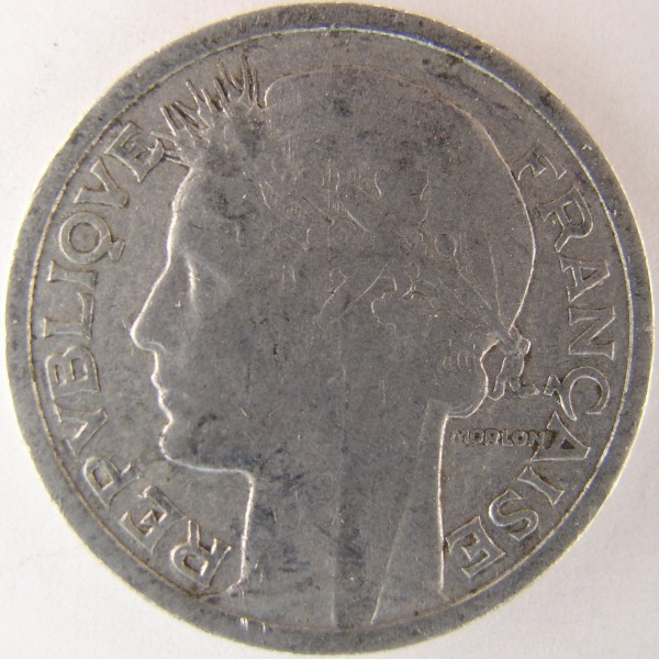 click for larger picture of 1947 France 1 Franc