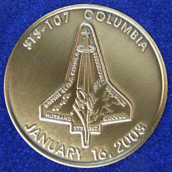 SPACE SHUTTLE COLUMBIA STS-107 In Memoriam JFK Half Dollar U.S 3 Coin Set NASA