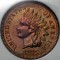 1875 Indian Head Cent RB Red Brown