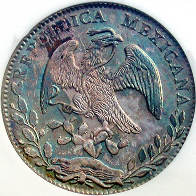 click for larger picture of 1880 Go SB Mexico 8 Reales