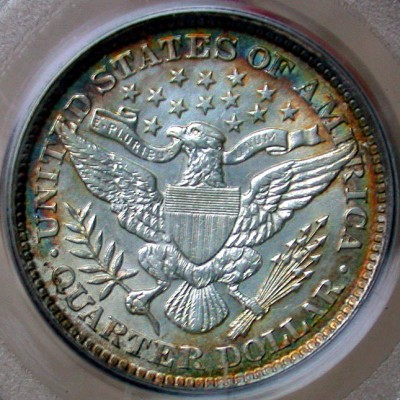 click for larger picture of 1894 Barber Quarter Dollar