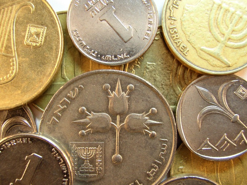 click for larger picture of Israel coins