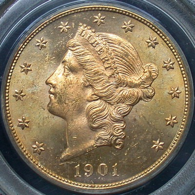 click for larger picture of 1901 $20 Liberty Gold Double Eagle