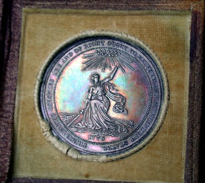 click for larger picture of 1876 USA Centennial Medal
