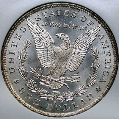 click for larger picture of 1884 O Morgan Dollar