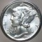 1935 Mercury Dime FB Full Bands