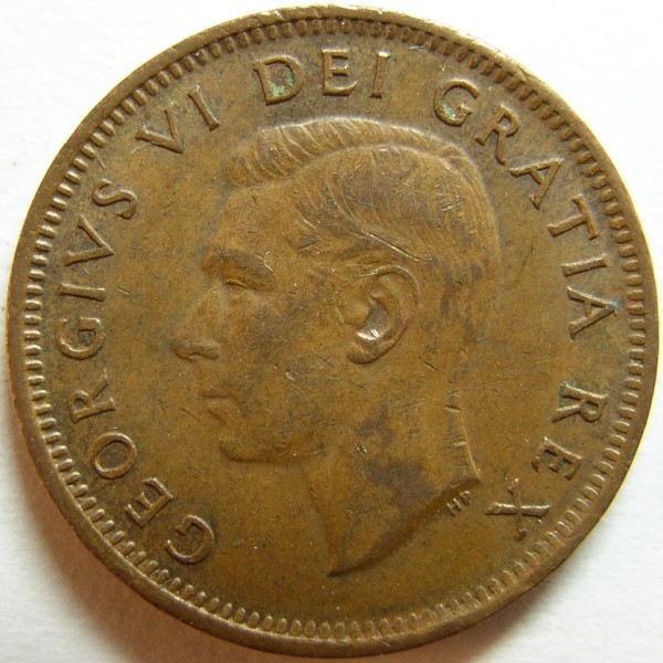 click for larger picture of 1951 Canada Cent