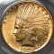 1908 $10 Indian Head Gold Eagle with Motto