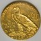 1908 Indian Head Gold Quarter Eagle $2.50