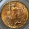 1908 Gold Saint Gaudens $20 Double Eagle No Motto