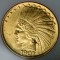 1907 $10 Indian Head Gold Eagle no Periods
