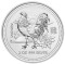 2005 Australian Silver Rooster 2 ounce 2 Dollars