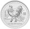 2005 Australian Silver Rooster 1/2 ounce 50 Cents