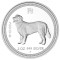 2006 P Australian Dog Silver Proof 2 ounce 2 Dollars