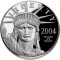 2004 W Platinum Eagle Proof 1 ounce $100 (Seated Liberty reverse)