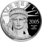 2005 W Platinum Eagle Proof 1 ounce $100 (Cornucopia reverse)