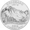 2006 Colorado State Quarter Dollar (line art design)