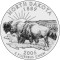 2006 North Dakota State Quarter Dollar (line art design)