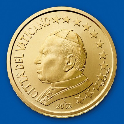 click for larger picture of 2002 Vatican City 50 Cents