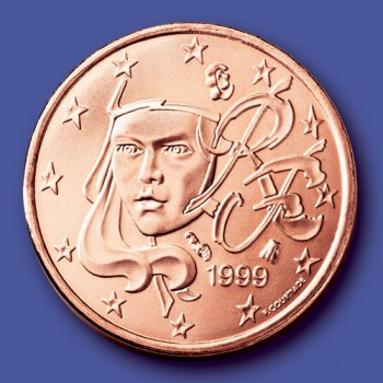 click for larger picture of 1999 France Cent