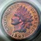1893 Indian Head Cent Proof RB Red Brown