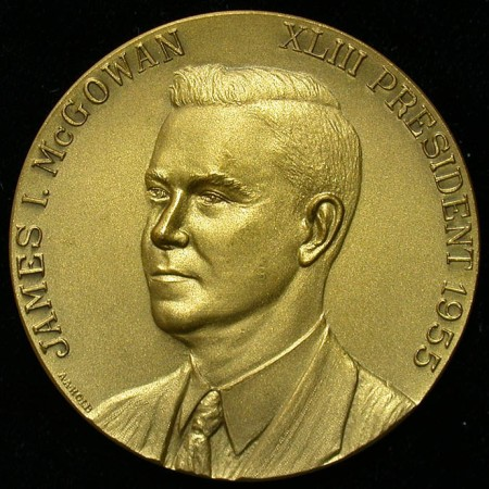 click for larger picture of 1955 Rochester Numismatic Association Medal