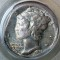 1941 Mercury Dime FSB 5% straight end clip, Broad Struck Error