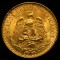 1945 M Mexico Gold 2 Peso
