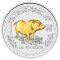 2007 Australian Silver Pig Gilded Edition 1 ounce 1 Dollar