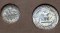 1961 Roosevelt Dime and Washington Quarter in Mint Set Holder