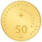2007 B Swiss Gold 50 Francs 100th Anniversary of the Swiss National Bank