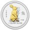 1999 Australian Silver Rabbit Gilded Edition 1 ounce 1 Dollar