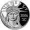 2006 W American Platinum Eagle Proof 1 ounce $100 (Legislative Muse reverse)