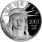 2007 W American Platinum Eagle Proof 1 ounce $100 (Executive Branch Eagle reverse)