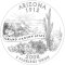 2008 Arizona State Quarter Dollar (line art design)