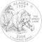 2008 Alaska State Quarter Dollar (line art design)