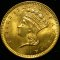 1858 Gold Dollar Indian Head, Large Head, Type 3