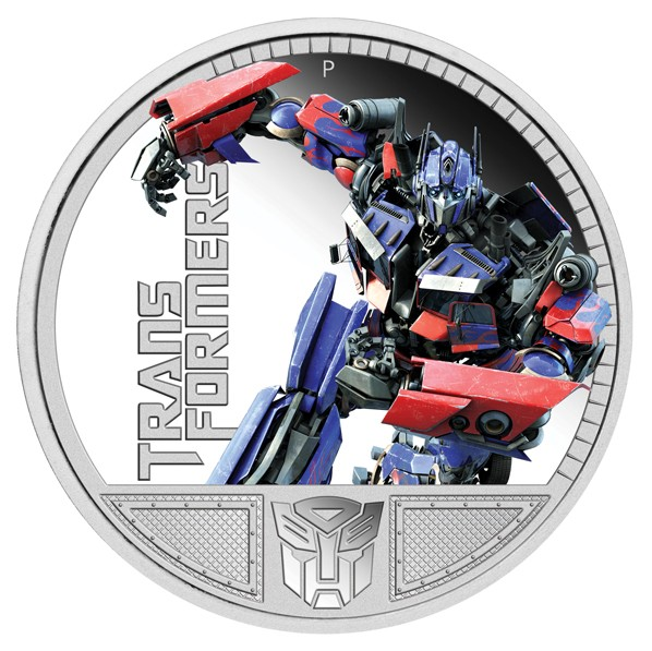 2009 P Tuvalu Silver Dollar Proof - Transformers Optimus Prime