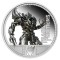 2009 P Tuvalu Silver Dollar Proof - Transformers Megatron
