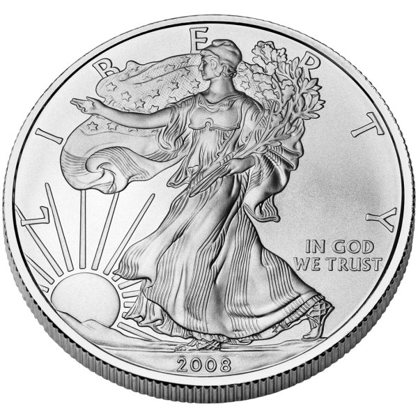 click for larger picture of 2008 W American Silver Eagle Uncirculated