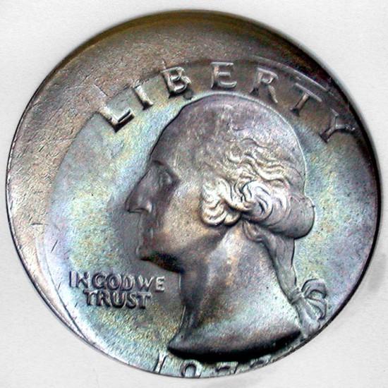Coin Page: 1977 Washington Quarter Dollar 15% Off Center Mint Error