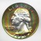 1961 Washington Quarter Dollar Proof Rainbow Toned