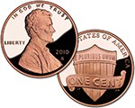 2010 S Lincoln Cent Proof (Shield Reverse)