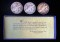 1936 Bridgeport, Connecticut Centennial Commemorative Half Dollar 3 Piece Set