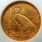 1909 Indian Head Gold Quarter Eagle $2.50