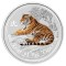 2010 P Australian Silver Tiger Series II Coloured Edition 1 ounce 1 Dollar