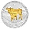 2009 P Australian Silver Ox Series II Gilded Edition 1 ounce 1 Dollar